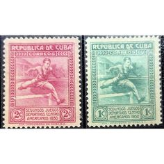 Cuba, Athletics, Central America, 1930, set of 2 stamps, mint