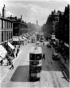 Dumbarton Road , Glasgow 1950s Ordnance Survey Maps, Village Fete, Glasgow City, Uk History, Glasgow Scotland, Public Transport, Old Photos, Britain, Tours