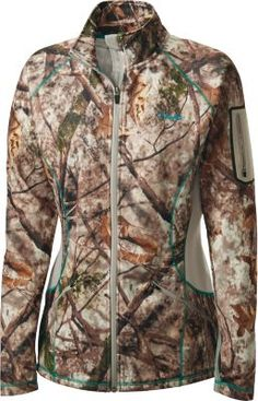 Our OutfitHER Lewiston Full-Zip Jacket will beat the chill on those early-season hunts. Brushed microfleece provides superior warmth and wicks away moisture to keep you dry – allowing you to stay in the field longer. Flatlock seams lay soft against the skin, eliminating irriation. Interior storm flap seals out cold, while a high collar keeps the wind off your neck. Flexible construction offers full range of motion.