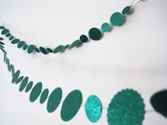 Sometimes you just need a sparkly green glitter paper garland : )
