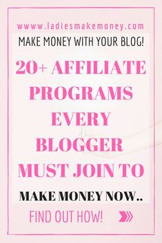 Here is a list of 20 affiliate program every blogger must join to make money online right now. Make money with affiliate marketing. Learn how to promote affiliate links to boost blog income.