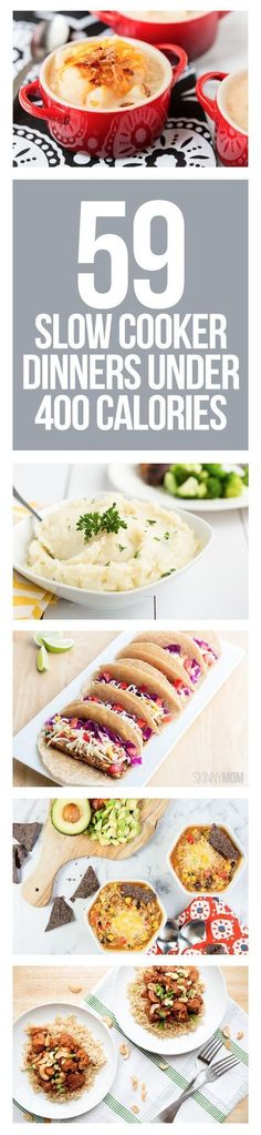 59 low-calorie crockpot meals perfect for families on busy nights. Easy to make recipes all under 400 calories. Popculture.com #slowcooker #healthyslowcooker #crockpot #healthycrockpot #crockpotrecipes #clowcookerrecipes #lowcalorierecipes #lowfatrecipes #dinner #dinnerideas #healtheating #familydinner