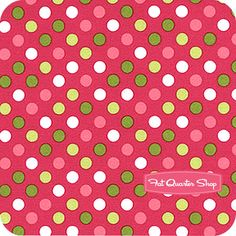 Spot On Bright on Hot Pink Polka Dots Yardage SKU# 12872-195
