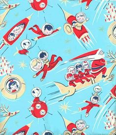 Vintage Christmas in space wrapping paper  tumblr_p0klruv3p81tp6d1qo5_r1_1280.jpg (564×655)