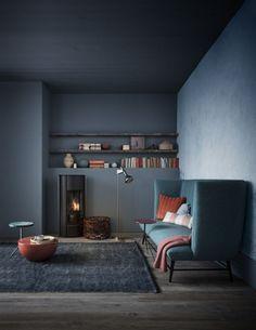 Dark Colors for Living Spaces / Interior Design