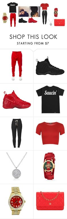 """""""Decoo"""" by mariigotclout ❤ liked on Polyvore featuring Kite, NIKE, Lija, WearAll, Anne Sisteron, Gucci, Rolex and Chanel"""