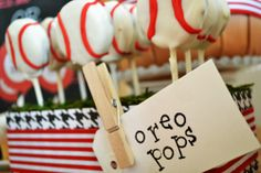 Oreo baseball pops and other baseball inspired foods