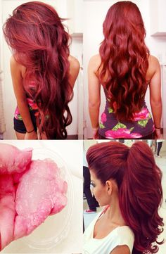 This DIY Hair Strategy Will Add Inches of Beautiful Length Hairdos, Diy Hairstyles, Pretty Hairstyles, Love Hair, Gorgeous Hair, Hair Color And Cut, Hair Colors, Hair Hacks, Healthy Hair