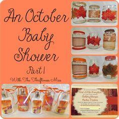 October Baby Shower Ideas -- Part One #babyshower #ideas