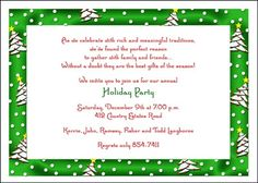 Christmas party invitations cards at InvitationsByU priced as low as 79¢ with larger quantities
