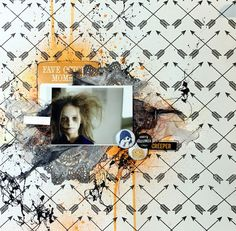 Le Blog de Plumo Scrapbook Layouts, Scrapbook Pages, Scrapbooking, Blog, Mixed Media, Polaroid Film, Paper Crafts, Memories, Halloween