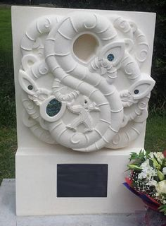 We create oamaru limestone sculptures of all sizes for every occasion and purpose. Including unique and personalised maori headstones. We are based in Wellington, NZ. Young Man, Sculpting, Families, Lion Sculpture, Artists, Statue, Create, Amazing, Design