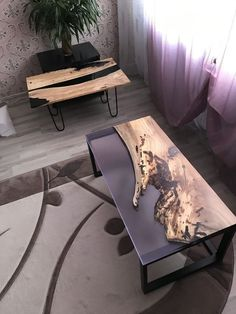 Diy Resin Table, Epoxy Wood Table, Epoxy Resin Wood, Diy Resin Crafts, Wood Crafts, Diy Wood Projects, Furniture Projects, Esstisch Design, Wood Table Design