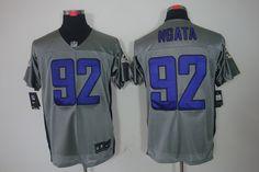 #92 Ngata Grey Baltimore Ravens Shadow Elite Nike NFL Jersey$24