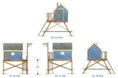 free treehouse playhouse wood plans