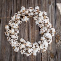 This 22 inch faux cotton boll wreath will add a rustic, farm house style to your home. It is organically arranged to add natural texture and beautiful simplicity. Cotton boll wreaths are so on trend r