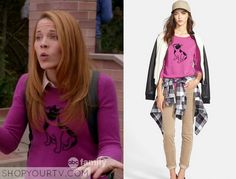 Switched at Birth: Season 4 Episode 5 Daphne's Pink French Bulldog Sweater