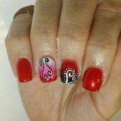 #salonbohemiallc #acrylic #gelpolish #nailart #handpainted #nails