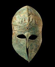 Corinthian Bronze Helmet, Century BC, Museum of Fine Arts, Houston, Texas. Greek History, Ancient History, Corinthian Helmet, Greek Helmet, Medieval, Ancient Armor, Greek Warrior, Bronze, Greek Art