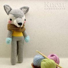 Harry The Wolf. Pattern by Pica Pau. Made by Kneat Handicrafts. Amigurumi Toys, Amigurumi Patterns, Handicraft, Wolf, Teddy Bear, Crochet, Handmade, Animals, Woody Woodpecker