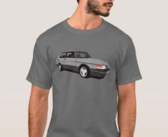 Facelifted version of Saab 900 Turbo Aero Coupé printed on on T-shirts, coffee mugs and many other gifts. Saab 900 Turbo, Classic Cars, Mens Tops, T Shirt, Tee Shirt, Vintage Classic Cars, Vintage Cars, Classic Trucks, Tee