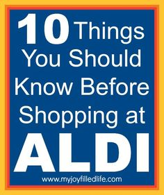 If you've never shopped at ALDI, this post will show you the ropes.