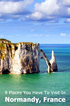 We plan on traveling to Normandy this spring, so here's my list of 9 places that we're like to visit in this part of France. Travel Tours, Europe Travel Tips, European Travel, Places To Travel, Etretat France, Oh The Places You'll Go, Places To Visit, Provence, European Honeymoons