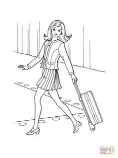 раскраска Барби одежда мода скачать | Рисунки для ...