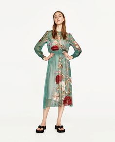 ZARA - WOMAN - FLORAL PRINT FLOWING DRESS