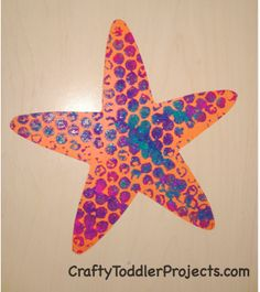 Crafty Toddler Projects: Bubble Wrap Starfish: 5 Easy Steps