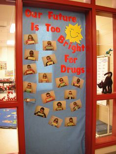 Door Decorations for Red Ribbon Week   Flickr - Photo Sharing!
