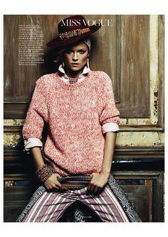 'Aux Portes de Cuzco' Kasia Struss by Claudia Kmoepfel & Stefan Indlekofer for Vogue Paris April 2013 7