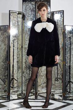 Black Rex Rabbit Bow Coat