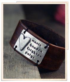leather love cuff $45.