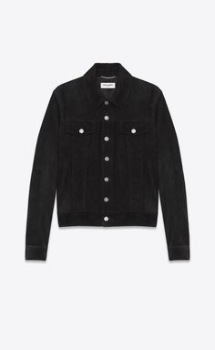 840a116e22c Suede denim jacket. Saint Laurent ...