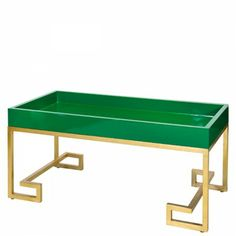 Greek Key Coffee Table-Green - Furbish Studio
