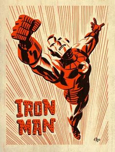 Classic Iron Man Illustration