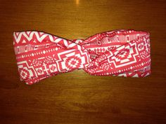 Rustic coral Aztec headband by KnottyBandsCo on Etsy, $10.00