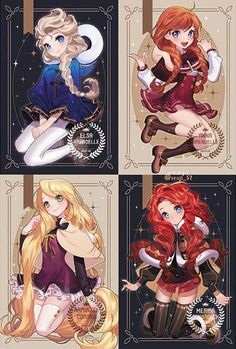 Prinzessinnen als Anime-Figuren - disney - - Mara E. Prinzessinnen als Anime-Figuren - disney - - Film Anime, Cartoon As Anime, Drawing Cartoon Characters, Art Anime, Anime Kunst, Cartoon Drawings, Art Drawings, Ariel Cartoon, Pencil Drawings