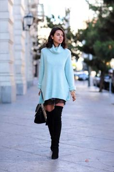 Buy Baggy Sweaters This Winter - Chicute Baggy Pullover, Baggy Sweaters, Cardigans, Look Fashion, Winter Fashion, Fashion Outfits, Cute Fall Outfits, Fall Winter Outfits, Azul Niagara