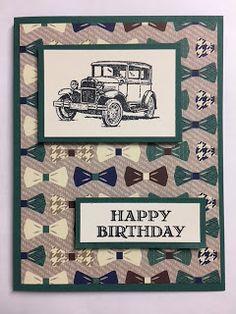 My Creative Corner!: Guy Greetings, True Gentleman, Masculine Birthday Card. 2018 Sale a Bration