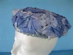 Vintage Lavender Hat with Flowers by GotMilkGlassAndMore on Etsy, $7.95