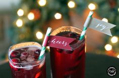 Holiday Straw Flags
