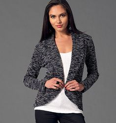 McCall's cardigans and vest sewing pattern for knits. M7254, Misses' Cardigans