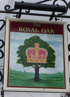 The Royal Oak in Exminster Devon Pub Signs, Beer Signs, Uk Pub, British Pub, Royal Oak, Business Signs, Advertising Signs, Store Signs, Hanging Out