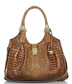 Brahmin Toasted Almond Collection Elisa Satchel #Dillards