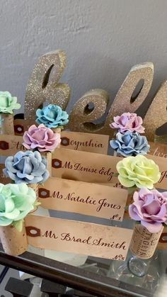 Wedding Discover Summer Wedding Place Card Ideas Create a colorful place card display for your summer wedding guests! Wedding Reception Music, Summer Wedding Guests, Wedding Shot, Wedding Places, Wedding Place Cards, Wedding Table Centerpieces, Wedding Reception Decorations, Wedding Videos, Wedding Playlist