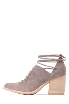 Jeffrey Campbell Shoes AMATA-TIE New Arrivals in Taupe