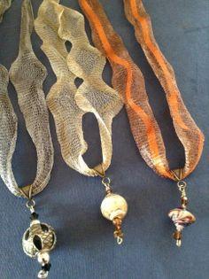 Italian wire mesh necklaces