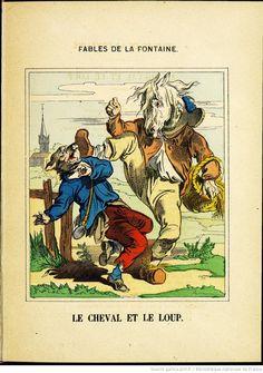 Fables de La Fontaine - Images d'Épinal - Le Cheval et le Loup - BnF